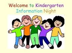 Welcome to Kindergarten information night - a drawing of happy children